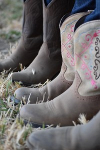 dusty cowboy boots