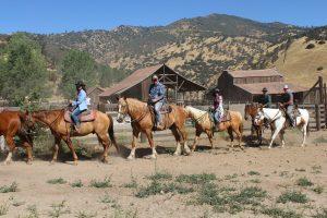 horseback riding at Rankin Ranch